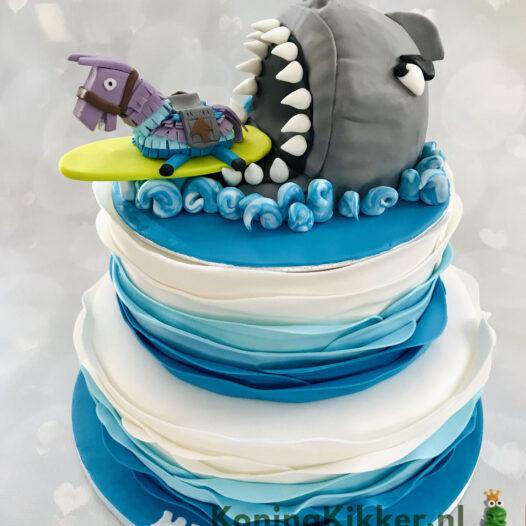 Fortnite met haai taart